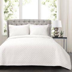 3 Piece Oversize Cotton Bed Quilt Set