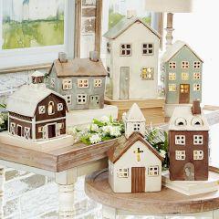 Farm Village Candle Lantern Collection Set of 3