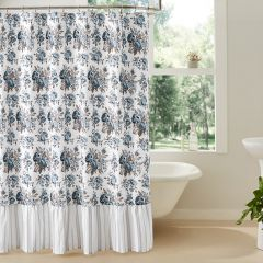Floral With Ruffle Shower Curtain