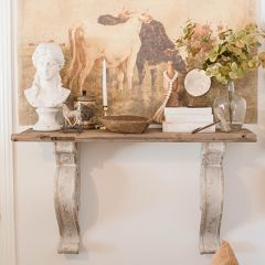 Recycled Wood Shelf With Corbels