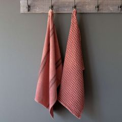 Washed Cotton Farmhouse Dish Towels Set of 2