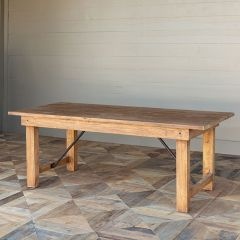 Folding Leg Rustic Farm Table