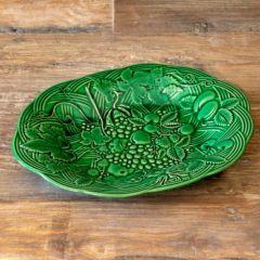 Glazed Leaf Print Platter