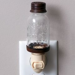 Mason Jar Style Night Light Set of 2