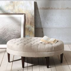 Tufted Classic Oval Ottoman