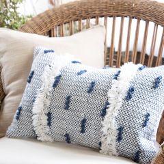 Woven Yarn Patterned Lumbar Pillow