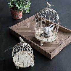 Decorative Iron Bird Cage Set of 2