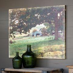 Watercolor Barn Canvas Print