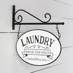 Laundry Wall Bracket Sign