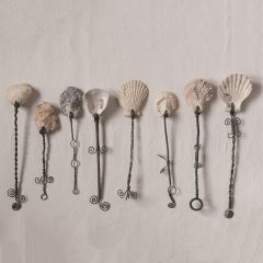 Decorative Wire Handled Seashell Spoons Set of 8