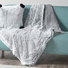 Shaggy Faux Fur Cozy Throw Blanket Grey