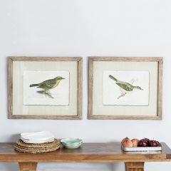 Cottage Bird Wall Art Set of 2