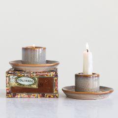 Reactive Glaze Stoneware Holder Set of 2