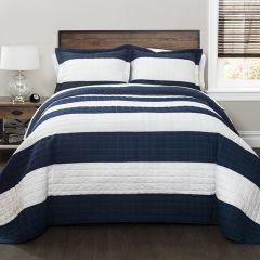 Coastal Stripe Quilt Set