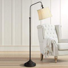 Old-World Industrial Floor Lamp