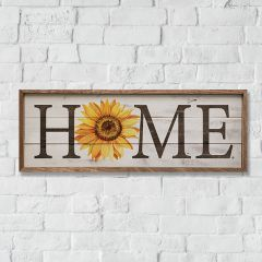 Framed Home Sign With Sunflower