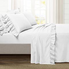 Solid Style Ruffle Sheet Set