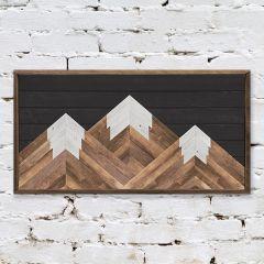 Dark Mountains Rustic Farmhouse Wall Decor