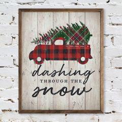 Dashing Truck and Tree Wall Art