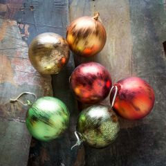 Colorful Ball Ornaments Set of 6 5 Inch