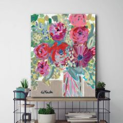 Impressionist Flower Vase Wall Art