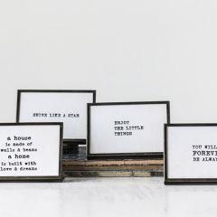 Inspirational Tabletop Framed Phrases Set of 6