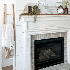 White Dipped Decorative Wood Ladder