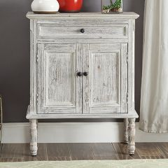 Double Door Distressed Farmhouse Accent Cabinet