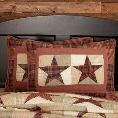Patchwork Star Sham Set of 2 Standard