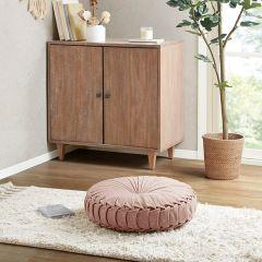 Cozy Cottage Round Floor Cushion Blush