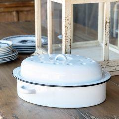 Farmhouse Enamelware Oval Roasting Dish