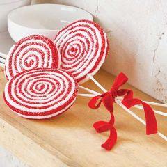 Decorative Candy Cane Lollipop Set of 3