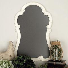 Decorative Curved Wood Framed Chalkboard