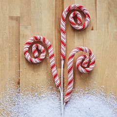 Decorative Holiday Candy Cane Spray Set of 2