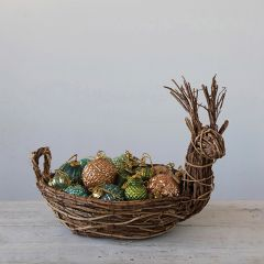Decorative Rattan Deer Basket