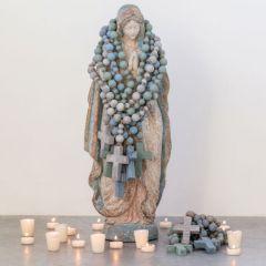 Decorative Wood Bead Rosary Set of 3