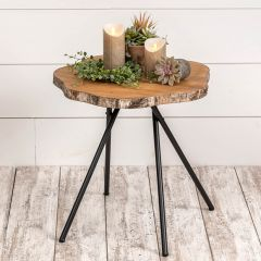 Decorative Wood Slice Side Table