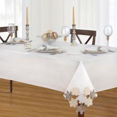 Delicate Snowflake Cutout Tablecloth