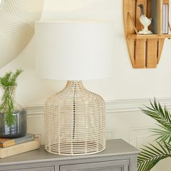 Rattan Base Table Lamp