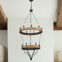 Tiered Lodge Chandelier