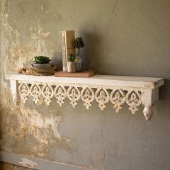 Hand Carved Ornate Wooden Wall Shelf