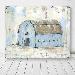 Distressed Blue Hue Barn Wall Art