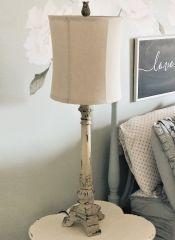 Distressed Farmhouse Buffet Lamp