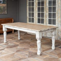 Distressed French Country Farm Table | SHIPS FREE