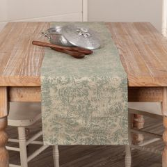 Distressed Pattern French Country Table Runner