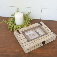 Distressed Wood Box Photo Frame