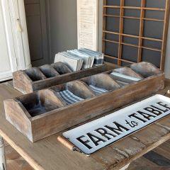 Divided Wood Farmhouse Caddy