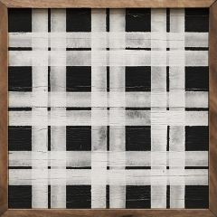 Double Plaid Square Wall Art