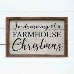 Dreaming Of A Farmhouse Christmas Whitewash Wall Art