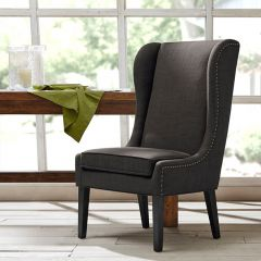 Dusky Wing Back Dining Chair